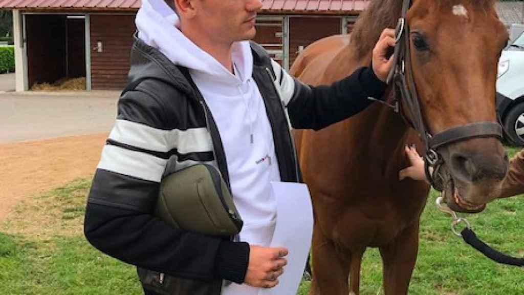 Griezmann con su caballo Princesa