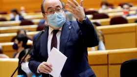 El ministro Miquel Iceta, en una intervención en el Senado.