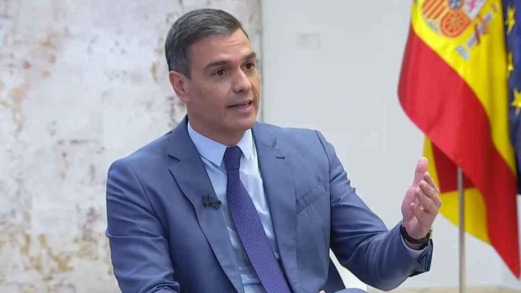 Pedro Sánchez, entrevistado en La Sexta.