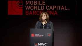La alcaldesa de Barcelona, el pasado 27 de junio en la cena inaugural del Mobile World Congress./