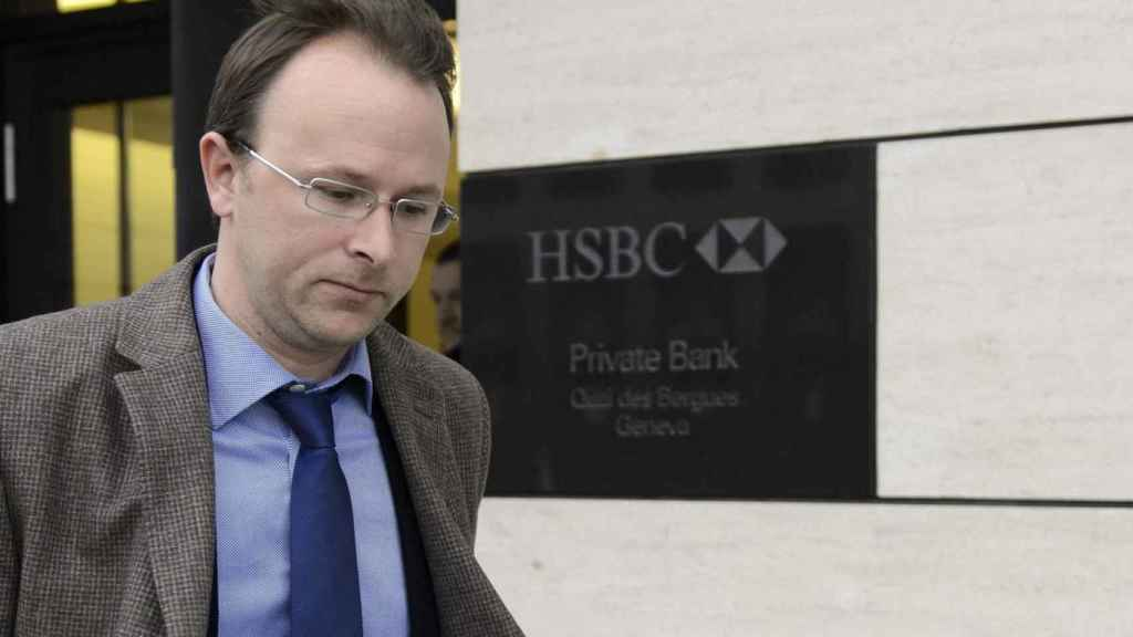 Yves Bertossa, tras un registro en el HSBC de Ginebra en 2015./