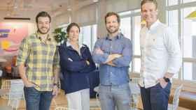 Jorge Cáceres, cofundador y COO de Lucas; Leticia de la Peña, Sales and Operations en Lucas; Steve Aitkenhead, CEO de Lucas, y Kalle Salmi, fundador y CEO de Kodit.io.