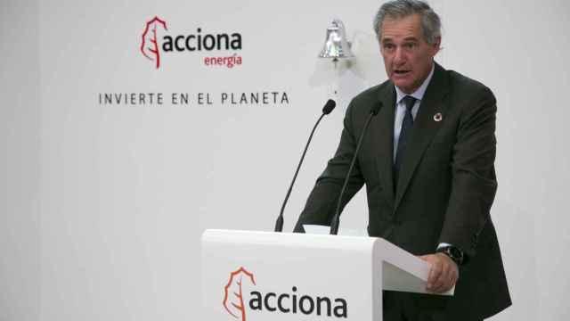 El presidente de Acciona Energía, José Manuel Entrecanales, en la salida a bolsa de la renovable.