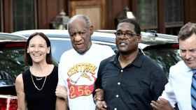 Bill Cosby a su salida de la prisión. Efe