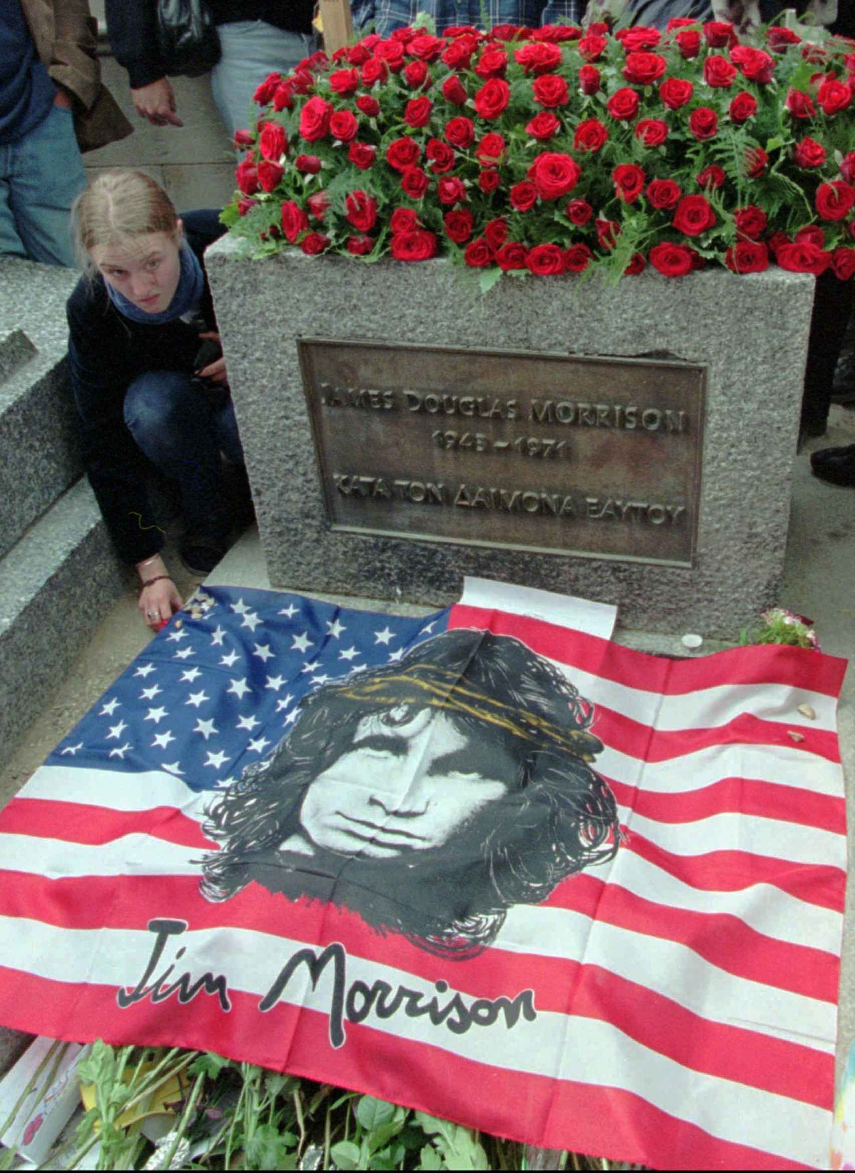 Tumba de Jim Morrison en París