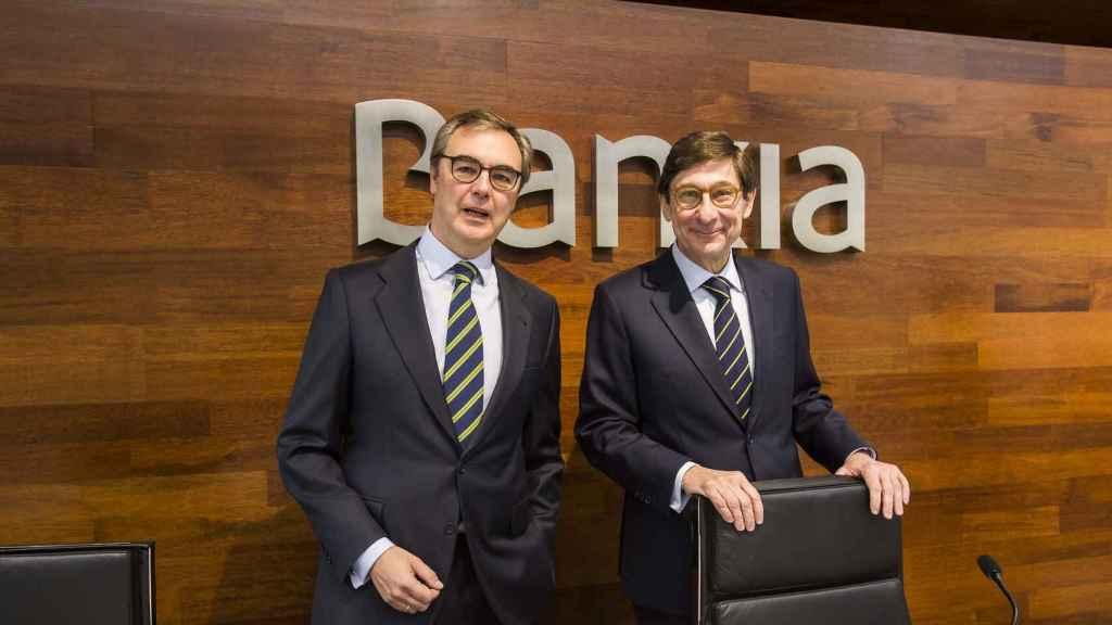 José Ignacio Goirigolzarri y José Sevilla en su etapa en Bankia.