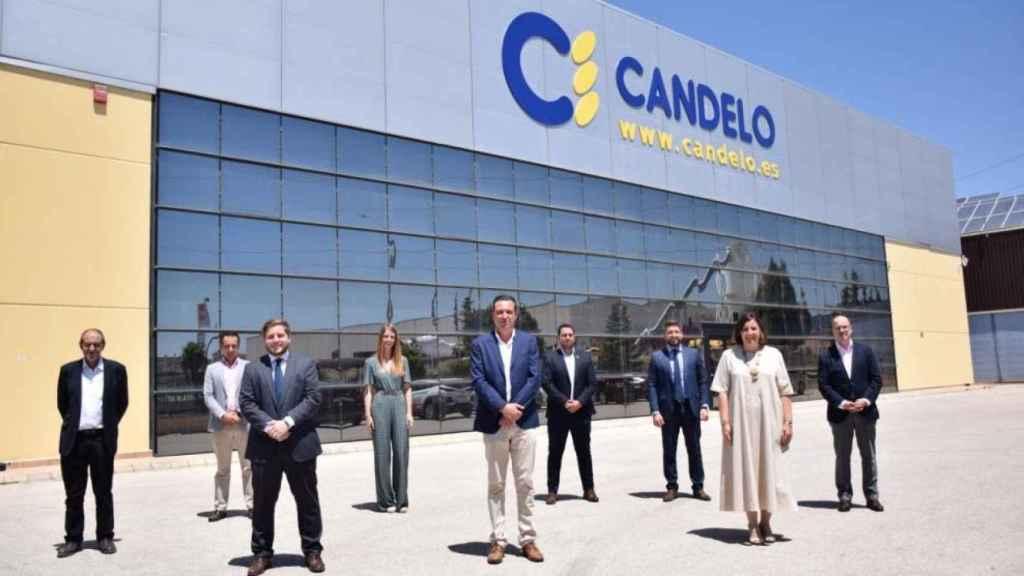 La consejera de Economía, Empresas y Empleo, Patricia Franco y el consejero de Fomento, Nacho Hernando, visitan el Grupo Agroalimentario 'Candelo'