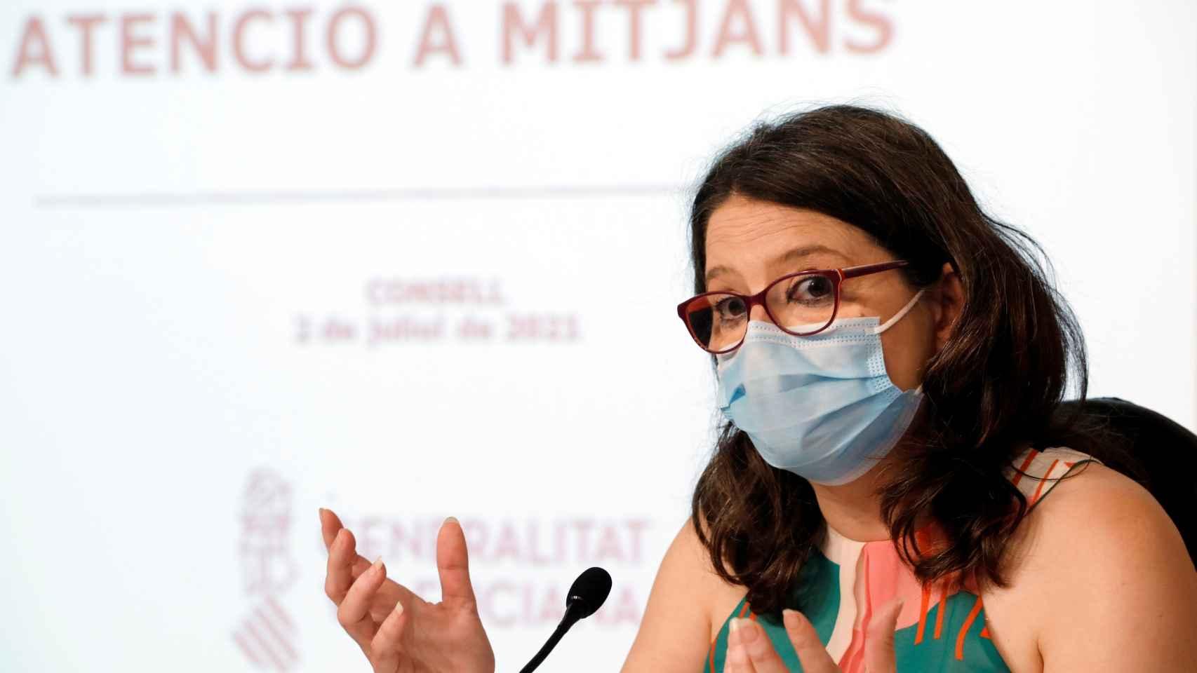 La vicepresidenta del Consell, Mónica Oltra (Compromís).