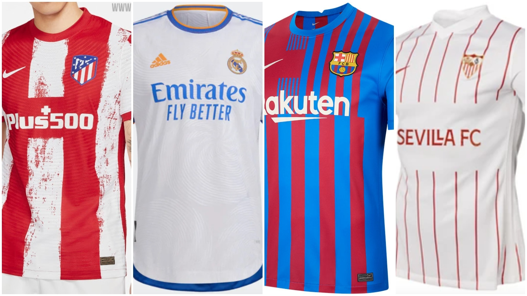 Todas las camisetas de La Liga 2021/2022
