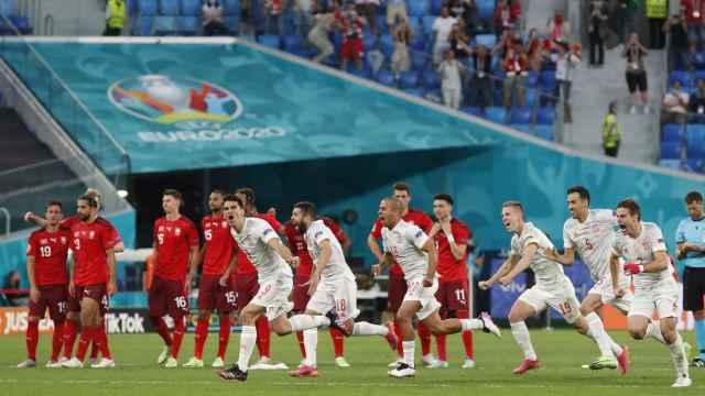 La tanda de penaltis del Suiza - España de los cuartos de final de la Eurocopa