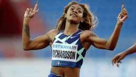 Sha'carri Richardson, durante una prueba de esta temporada