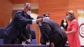 El rey Felipe en la entrega de despachos a los nuevos fiscales