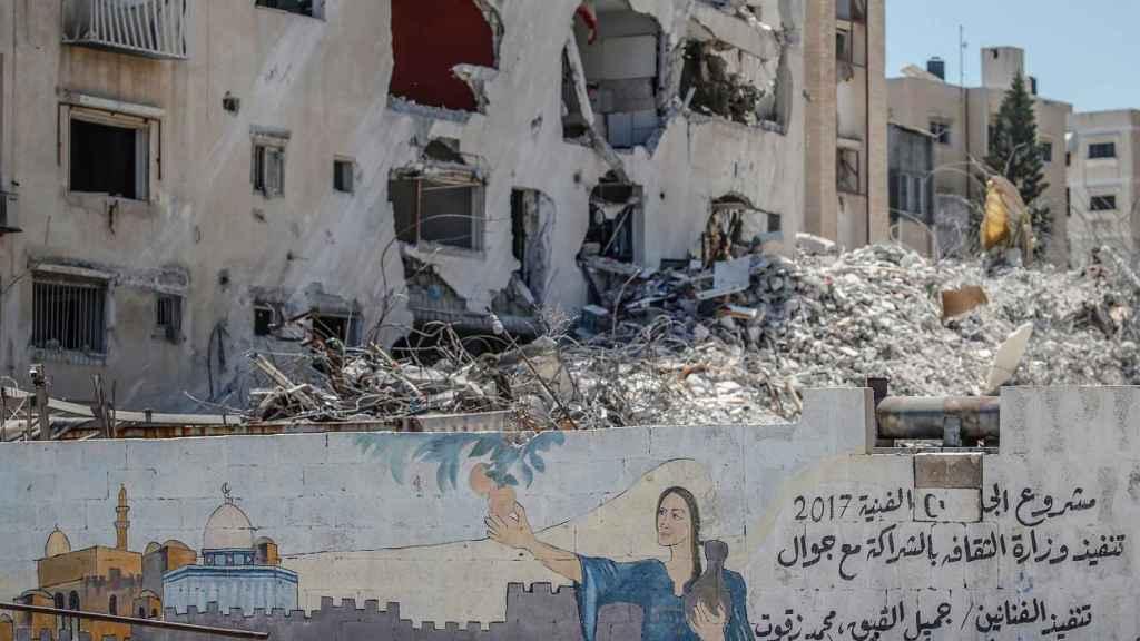 Una vivienda destruida en Gaza por el Ejército de Israel. Efe