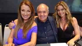 José Luis Moreno y las actrices Denise Richards y Jane Seymour.