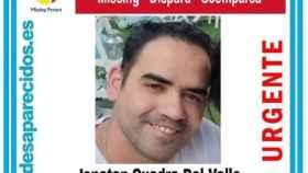 Jonatan Cuadra desapareció el pasado 1 de julio