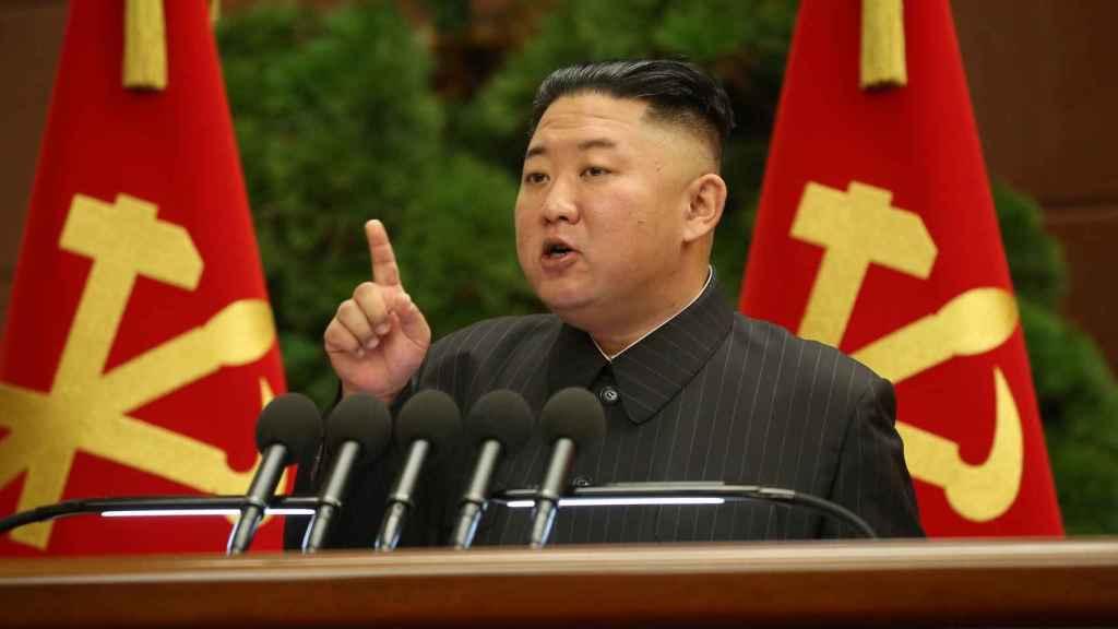 Kim Jong-Un durante un discurso.