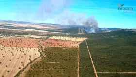Imagen del incendio de Los Yébenes tomada por los efectivos del Plan Infocam