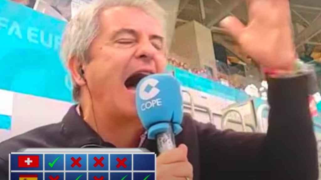 Así narró Manolo Lama los penaltis del Suiza - España