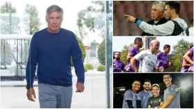 Ancelotti y su nuevo cuerpo técnico del Real Madrid