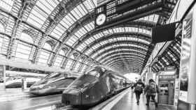 Imagen de una estación de tren italiana.