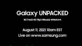 Cartel anunciante del próximo evento de Samsung.