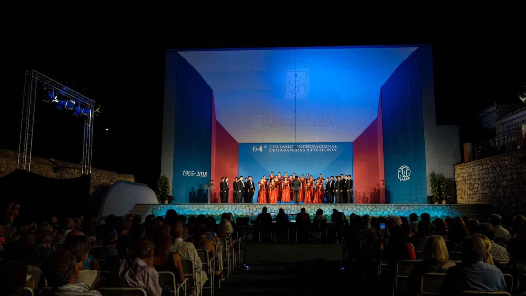 Velada de la 64 edición del certamen celebrada en Torrevieja en 2018.