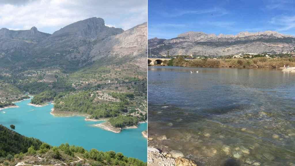 El río Guadalest tiene un recorrido de unos 16 kilómetros, mientras que el de Algar solo tiene 12km.