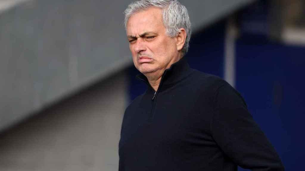 José Mourinho, durante un partido con el Tottenham Hotspur