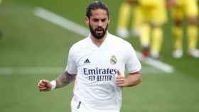 Isco Alarcón, durante un partido con el Real Madrid