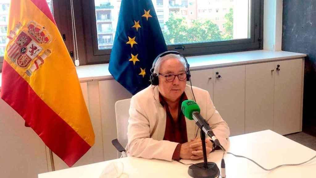 El ministro de Universidades, Manuel Castells, este lunes en Onda Cero.