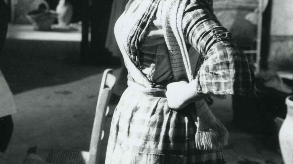 Raffaella Carrà durante el rodaje de 'Los camaradas'.