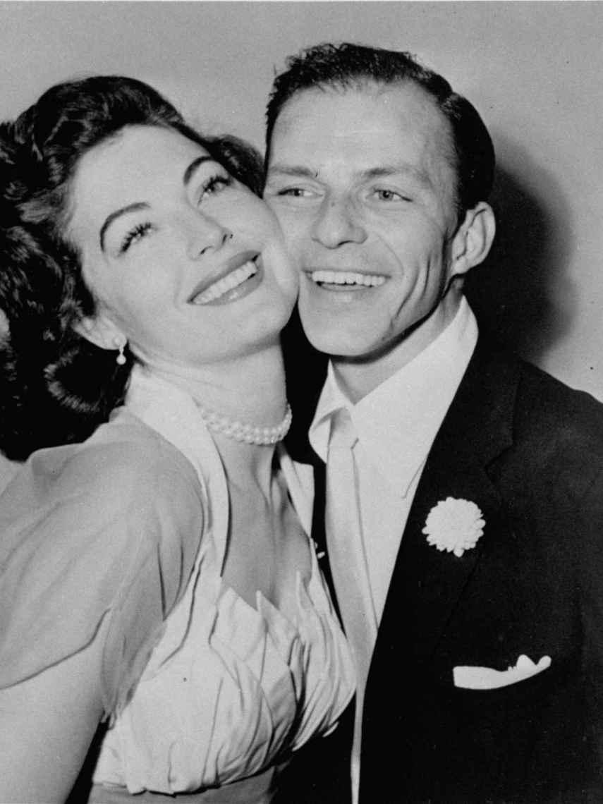 Frank Sinatra and actress Ava Gardner.