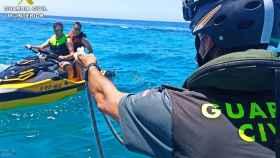 Uno de los controles de motos náuticas que se están realizando esta temporada.