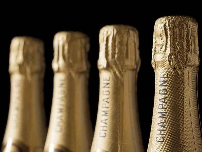 Botellas de champagne.