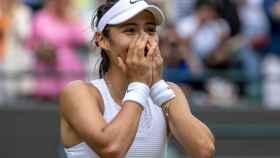 Emma Raducanu, emocionada tras pasar a octavos de Wimbledon