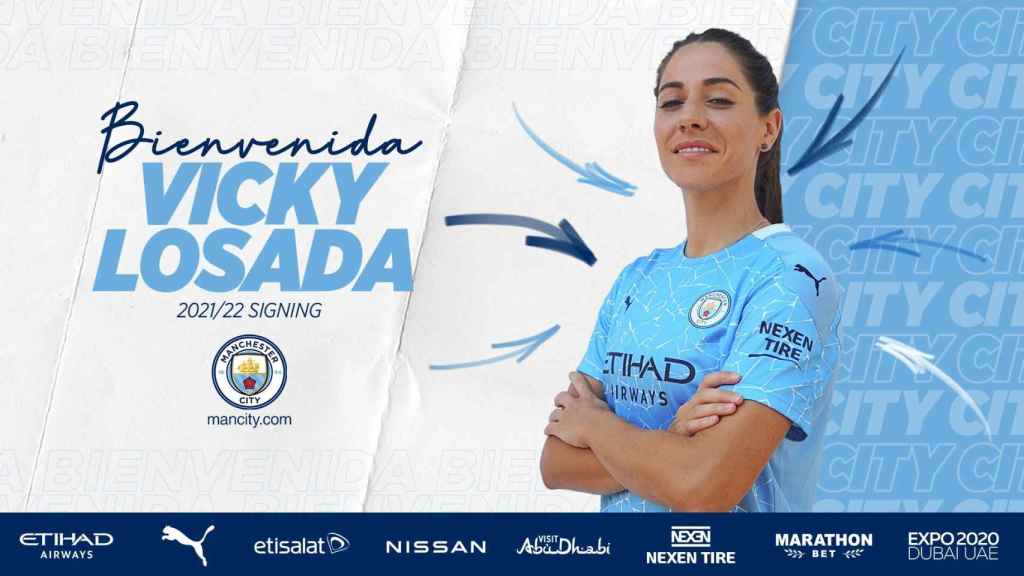 Vicky Losada, nueva futbolista del Manchester City Femenino