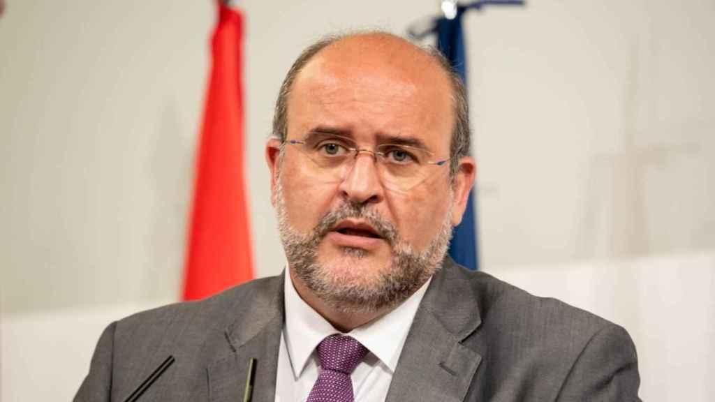 José Luis Martínez Guijarro en su comparecencia de prensa este lunes en Toledo