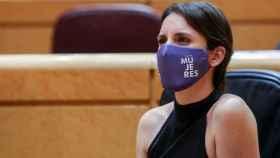 La ministra de Igualdad, Irene Montero, en una imagen reciente en el Senado.