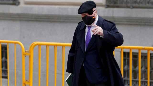 Villarejo , en una comparecencia en la Audiencia Nacional el pasado marzo./