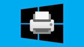 Logo de Windows con el emoji de una impresora.