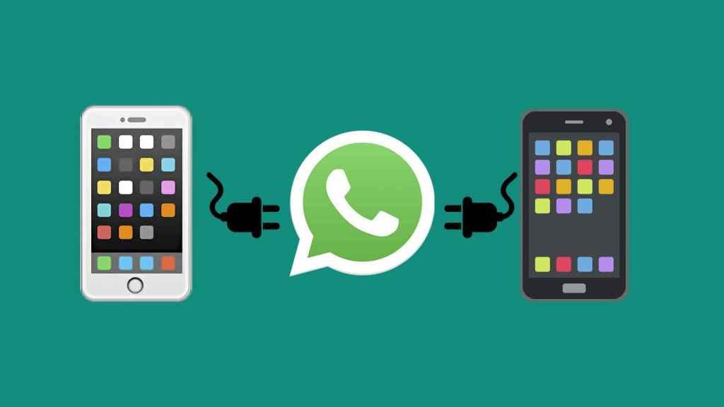 Ilustración de la función de WhatsApp.
