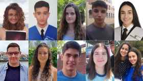Diez de los diecisiete alumnos con las mejores notas de la EBAU.