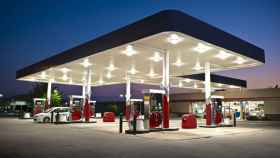 Una gasolinera.