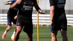 Mariano y Jovic, durante un entrenamiento