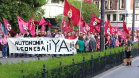 Imagen de archivo de una manifestación a favor de la autonomía de la Región Leonesa.