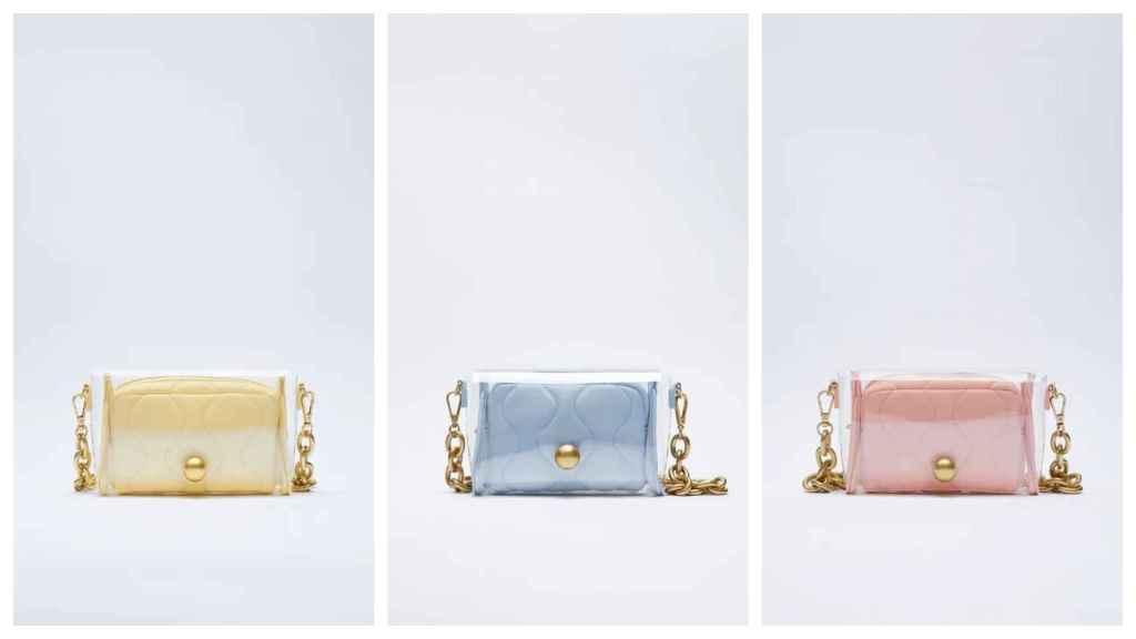 Las tres versiones de la propuesta de Zara.