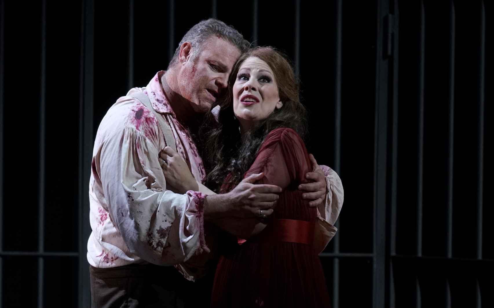 Sondra Radvanovsky y Joseph Calleja en 'Tosca'.