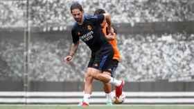 Isco Alarcón, entrenando con el Real Madrid