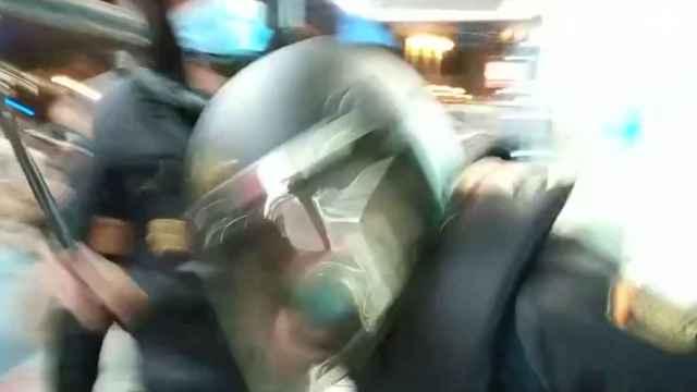 Cargas policiales tras la Manifestación en Sol por Samuel, el joven asesinado en A Coruña