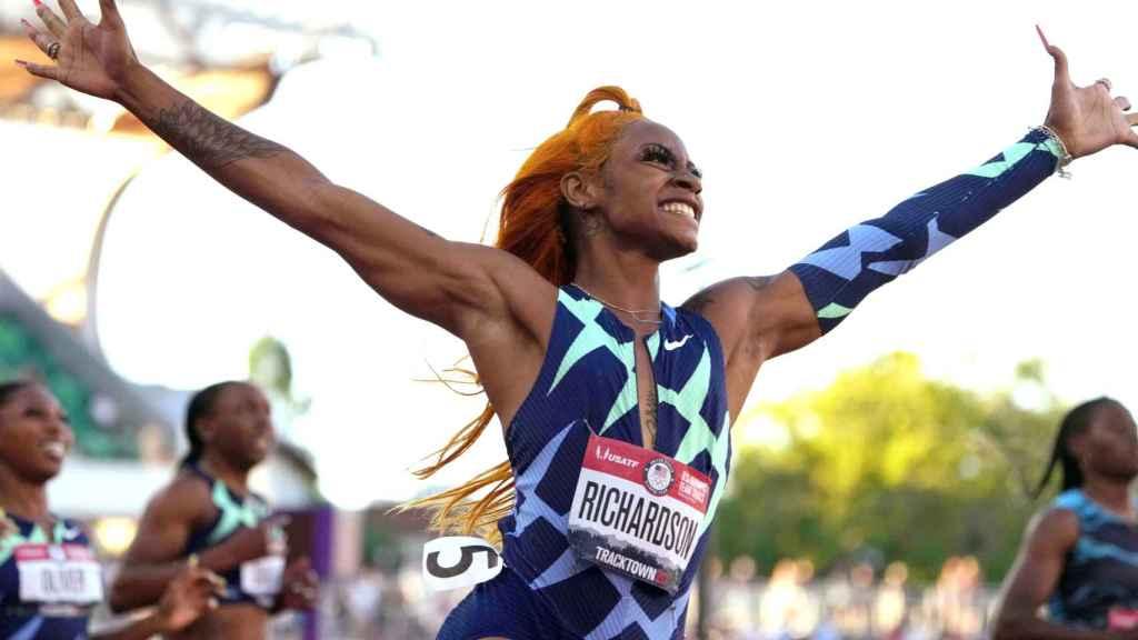 Sha'Carri Richardson, velocista de Estados Unidos durante una prueba